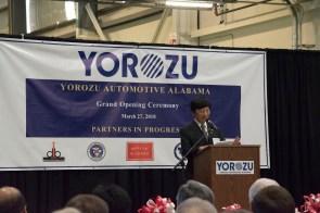 Yorozu Automotive Alabama held its official grand opening in Jasper. (Brittany Faush / Alabama NewsCenter)