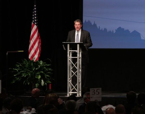 Alabama Power's Zeke Smith speaks at the American Values Luncheon. (Bruce Nix/Alabama NewsCenter)