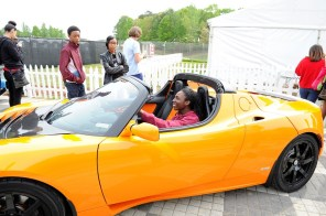 The Alabama Power education event is held each year in conjunction with the Indy Grand Prix of Alabama to introduce students to electric vehicle transportation and how math and science apply to the auto industry. (Phil Free / Alabama NewsCenter)