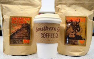 Southern Girl Coffee Co. comes in a variety of single source coffees and blends. (Michael Tomberlin / Alabama NewsCenter)