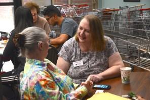 Catherine Findley brought Cyber-Seniors to the CJSF and other Birmingham elderly communities. (Karim Shamsi-Basha / Alabama NewsCenter)