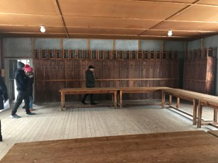The Dachau concentration camp site during a visit by Jeffrey and Gail Bayer. (Courtesy Jeffrey and Gail Bayer)