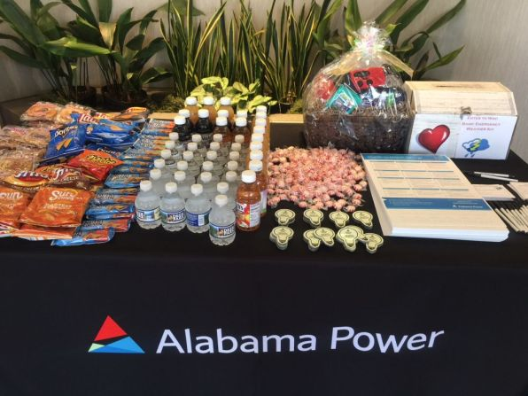 Snacks awaited customers at the West Jefferson Business Office in Hueytown. (Keisa Sharpe/Alabama NewsCenter)
