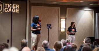 The team behind Snippety Snap makes its pitch. (Auburn University)