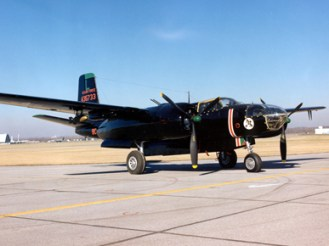 Douglas B-26C Invaders were flown by eight Alabama Air National Guard members and their Cuban exile allies during the covert assault on the Bay of Pigs in Cuba in April 1961. (From Encyclopedia of Alabama, courtesy of U.S. Air Force)