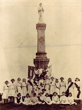 Organizations such as the Ladies Memorial Association arose in the Reconstruction Era and aimed to recognize and honor the sacrifices made by those who served in the Confederate military. (From Encyclopedia of Alabama, courtesy of Alabama Department of Archives and History)