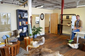 Bradley Dean in his Lowe Mill studio. (Anne Kristoff/Alabama NewsCenter)