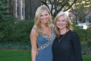 Hannah Brown, Miss Alabama USA with her mother. (Photograph courtesy of Hannah Brown)