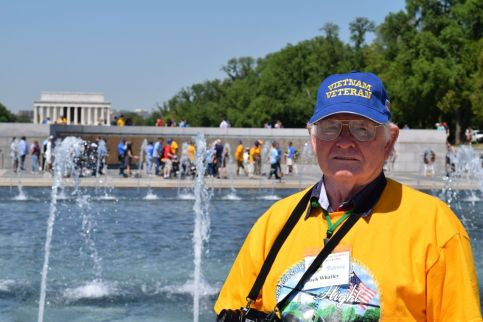 Whatley was solemn at the Washington Memorial, realizing the huge sacrifice American servicemen have given their country. (Donna Cope/Alabama NewsCenter)
