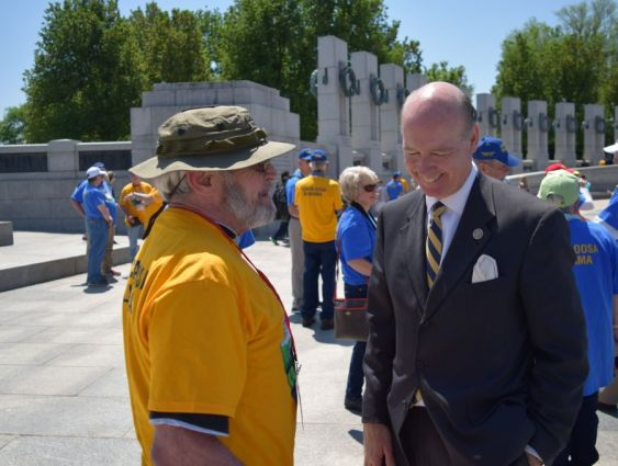 Gilbert (left) and Aderholt share a laugh. (Donna Cope/Alabama NewsCenter)