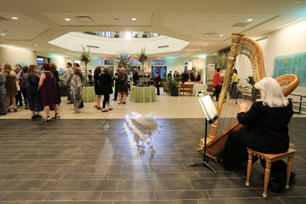A reception was held in the new welcome center and administrative offices for donors, volunteers, staff and guests at the Huntsville Botanical Garden, Thursday, March 23, 2017. (Photos by Michael Mercier).