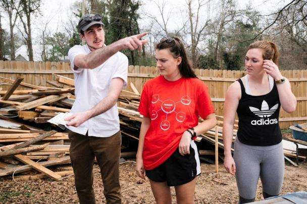 The Horseshoe Farm Homes team shares their vision for the homes. From left, Frank McDaniel, Lauren Barnes, Sydney Gargiulo. (Rob Culpepper)