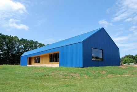 The completed Greensboro Boys and Girls Club. (Rural Studio)