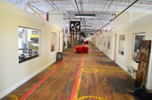 Lowe Mill is an ideal environment for creative people like Bradley Dean. (Anne Kristoff/Alabama NewsCenter)