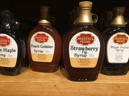 Syrup is another offering for fans of the Priester's brand. (Keisa Sharpe/Alabama NewsCenter)