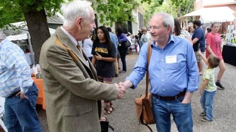 Wayne Flynt meets fans at the Alabama Book Festival in Montgomery. (Karim Shamsi-Basha/Alabama NewsCenter)
