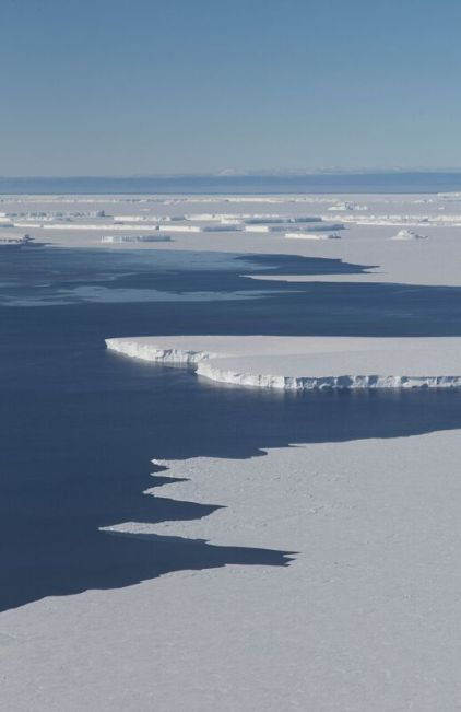 For more than a decade, satellites have been recording massive ice loss and rapid change in the Thwaites Glacier area in west Antarctica. Now an international team of scientists will try to get a better idea of how soon the glacier could begin to collapse, raising sea levels substantially. (Jeremy Harbeck)