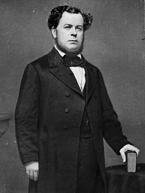 Stephen R. Mallory (ca. 1813-1873) was a U.S. senator from Florida during the 1850s and secretary of the Navy of the Confederacy in the early 1860s. He worked to increase the Confederacy's naval power after secession through construction of war ships and the commissioning of existing vessels. (From Encyclopedia of Alabama, courtesy of Library of Congress)