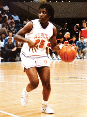 Basketball star Ruthie Bolton began her career at Auburn University, leading the Tigers to a 119-13 record from 1986-89. (From Encyclopedia of Alabama, courtesy of Auburn University)