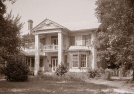 Viola and Will's home on Broad Street in Camden, now known as the Bagby-Liddell House, was photographed for the Historic American Building Survey in 1936. (Alabama Heritage, Library of Congress)
