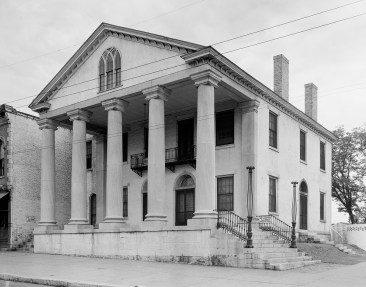Old State Bank Building, built c. 1830, and photographed in 1939. (Photograph by Frances Benjamin Johnston, Carnegie Survey of the Architecture of the South, Library of Congress, Prints and Photographs Division)