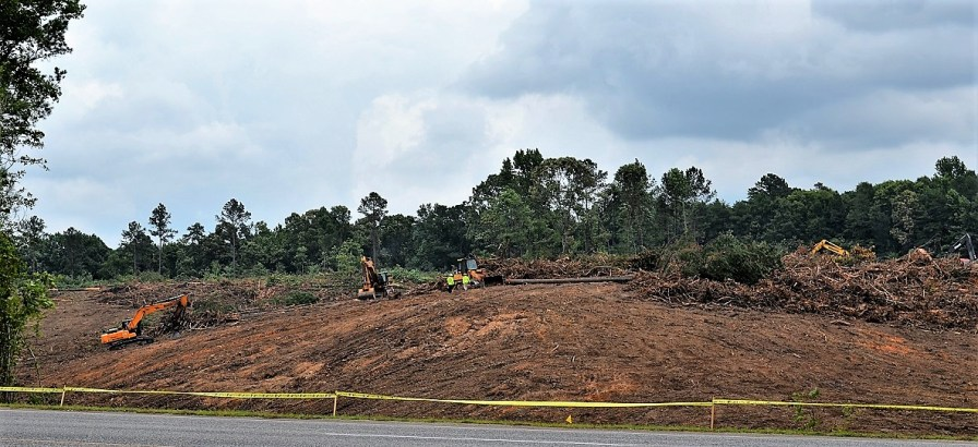 Site work has started on the 133 acres where Amazon will build its 855,000-square-foot fulfillment center. (Michael Tomberlin / Alabama NewsCenter)