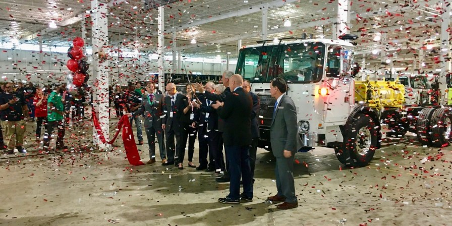 A celebration marks the opening of Autocar's heavy truck assembly facility in Birmingham. (contributed)