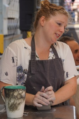 Lana Hobbs' work is gaining in visibility with her recent move to Pepper Place. (Erin Harney/Alabama NewsCenter)