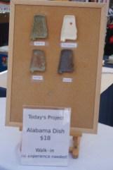 Alabama dishes for sale at Thrive Clay Studio. (Erin Harney/Alabama NewsCenter)