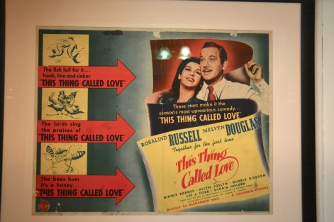 "A poster for the 1940 film ""This Thing Called Love,"" which Fitzgerald saw on Dec. 20, 1940. He began to feel ill while leaving the theater and died of a heart attack the following day. (Karim Shamsi-Basha/Alabama NewsCenter)"