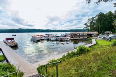 River Church has been meeting on Lay Lake since 1969 and has never had a service rained out. (Wynter Byrd/Shorelines)