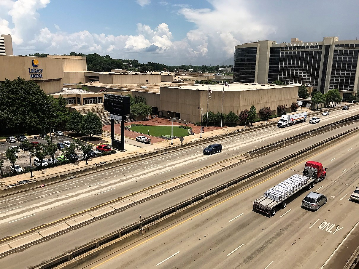 The improvements to Interstate 59/20 will include the space underneath the roadways. (Michael Sznajderman / Alabama NewsCenter)