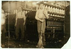 Young sweeper working in Anniston Yarn Mills, November 1910. (Photograph by Lewis Wickes Hines, Library of Congress, Prints and Photographs Division)