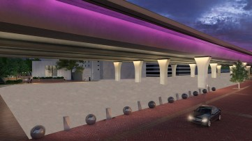 A rendering shows the lighting concept for the proposed 10-block CityWalk BHAM. (contributed)