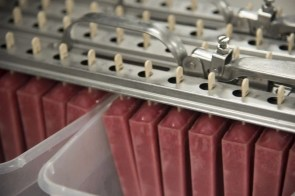 Raspberry pops are nearly ready for packaging. (Brittany Faush/Alabama NewsCenter)