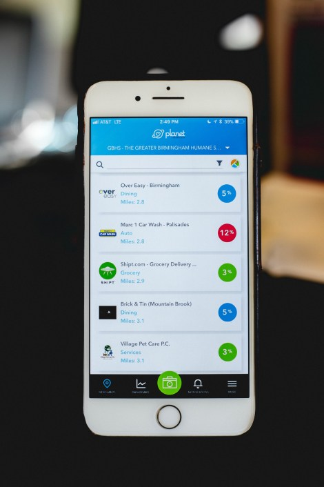 Customers can direct a portion of their purchases at select merchants to causes they support using the Planet Fundraiser app. (contributed)