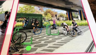 A linear park under Interstate 59/20 would have space for a wide range of uses. (Michael Sznajderman/Alabama NewsCenter)