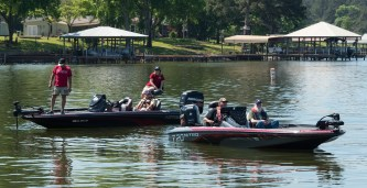 Veterans fish during a day on Lake Logan Martin in Cropwell. (Bernard Troncale/Shorelines)