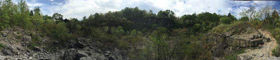 Panorama of Ruffner Mountain Nature Preserve in Birmingham, 2016. (Lahti213, Wikipedia)