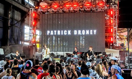 Patrick Droney performs Sunday at Sloss Fest 2018 in Birmingham. (Billy Brown / Alabama NewsCenter)
