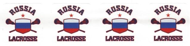 Russian Lacrosse Team stickers. (Solomon Crenshaw Jr./Alabama NewsCenter)