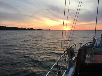 Michelle Segrest and Maik Ulmschneider are hoping for calm seas for most of their voyage. (Photo/Michelle Segrest)
