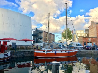 The Seefalke is painted a bold orange, something that agrees with Auburn graduate Michelle Segrest. (Photo/Michelle Segrest)