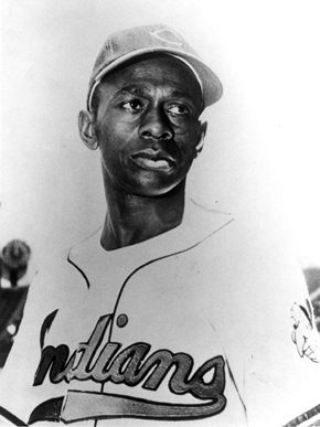 """Baseball pitcher and Mobile native Leroy """"Satchel"""" Paige (ca. 1906-1982) was one of the greatest pitchers in baseball. He played for several years for the Birmingham Black Barons and for semi-pro teams in Mobile before entering the major leagues at the age of 42. He was inducted into the National Baseball Hall of Fame in 1971. (From Encyclopedia of Alabama, Birmingham Public Library Archives, courtesy of Faye Davis)"""