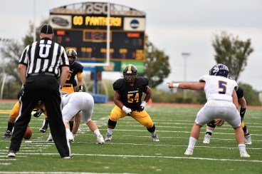 Austin Lewter anchors the BSC Panthers' offensive line, Coach Tony Joe White says. (Birmingham-Southern College Athletics)