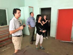 """The long-vacant Academy Street High School in Troy is used for storage and much of the property is frozen in time. But DesignAlabama architects and planners say the building has """"good bones"""" and could be repurposed for a number of uses. (Ike Pigott / Alabama NewsCenter)"""