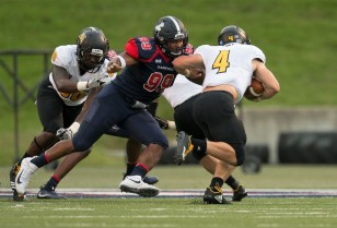 Ahmad Gooden is a standout for Samford on a defense that lost some key playmakers. (Marvin Gentry/Samford University Athletics)