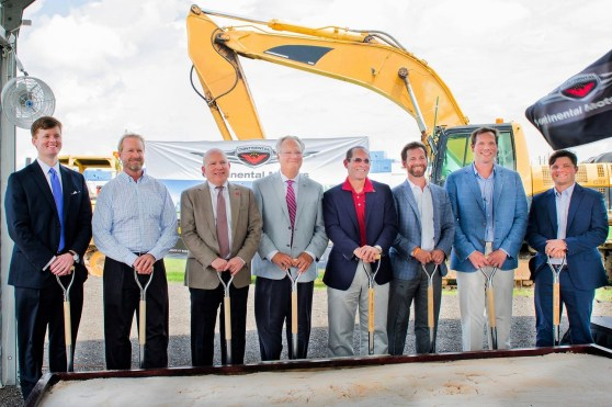 Continental Motors leaders join state and local officials at a groundbreaking for the company's planned $75 million factory in Mobile. (Continental Motors)