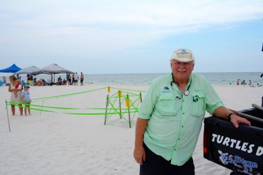 Mike Reynolds founded Share the Beach in 2001 and has amassed a steady group of volunteers over the years. (Karim Shamsi-Basha/Alabama NewsCenter)