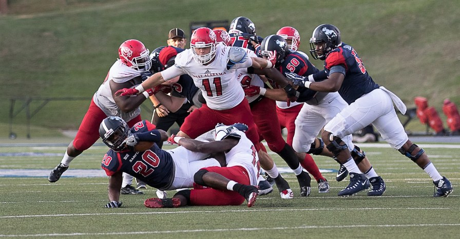 Dakota Rushing is an anchor on West Alabama's defensive front. (West Alabama Athletics)
